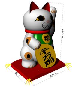 招き猫(三毛猫)・