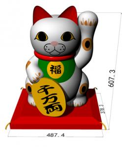 招き猫(三毛猫)